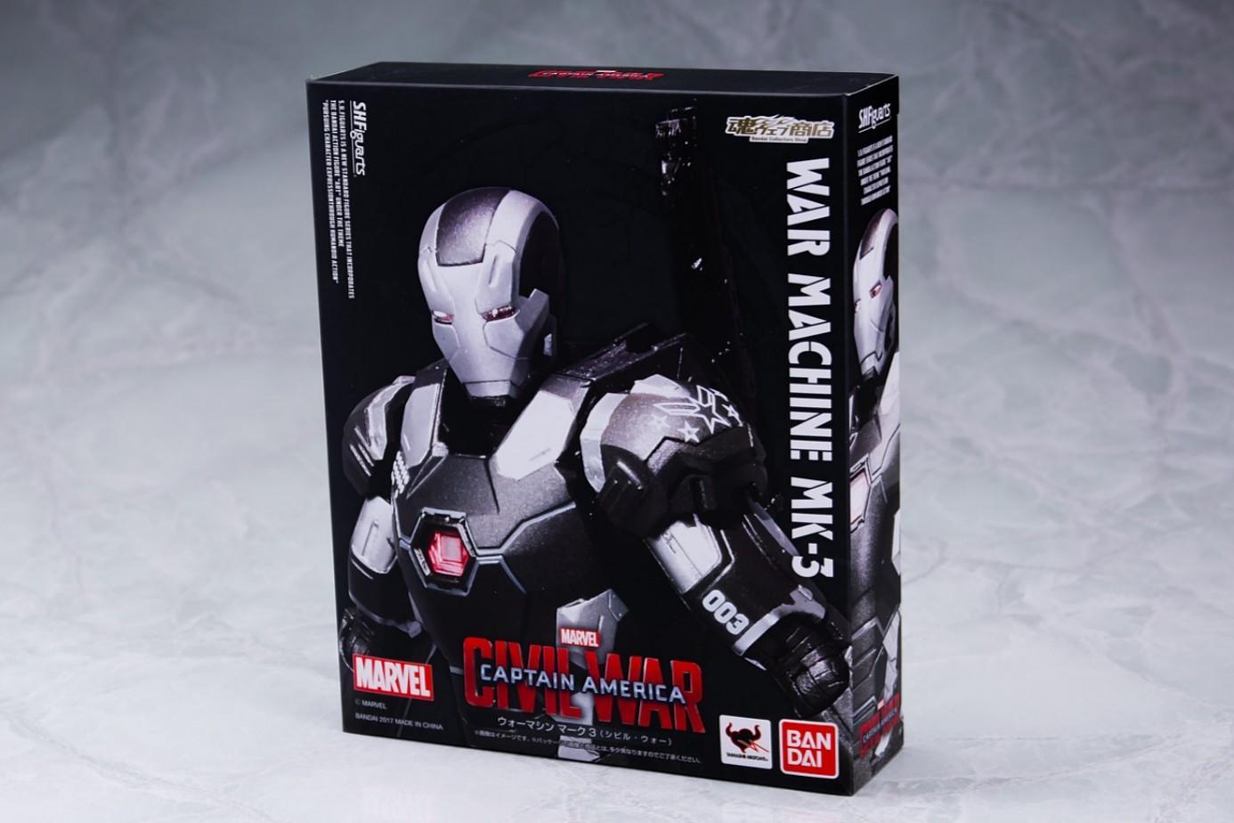 S.H.Figuarts Captain America Civil War WAR MACHINE MARK 3 III Figure BANDAI used