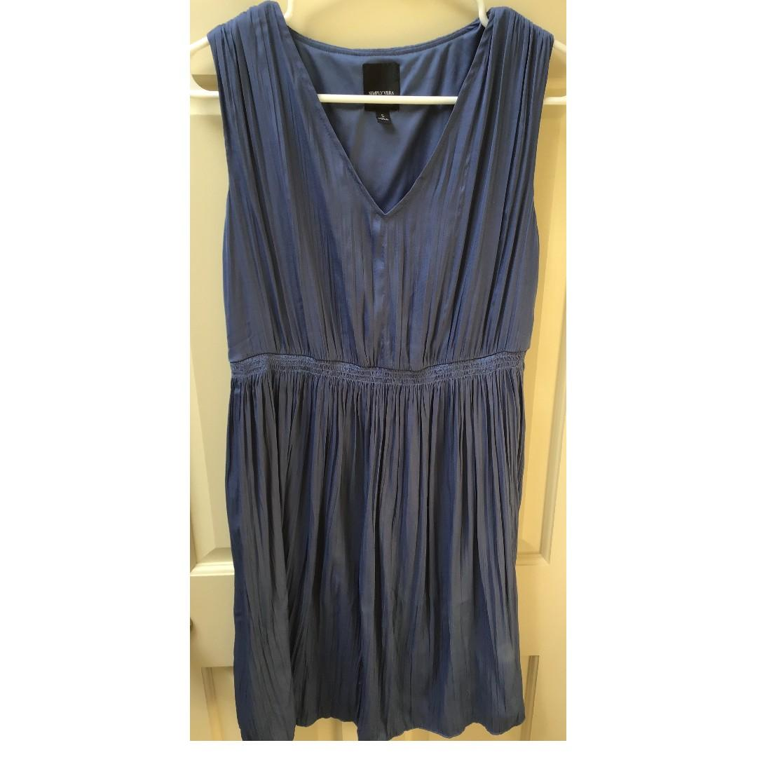 Simply Vera Wang Fully Lined French Blue Party Dress Size Small Like New Condition