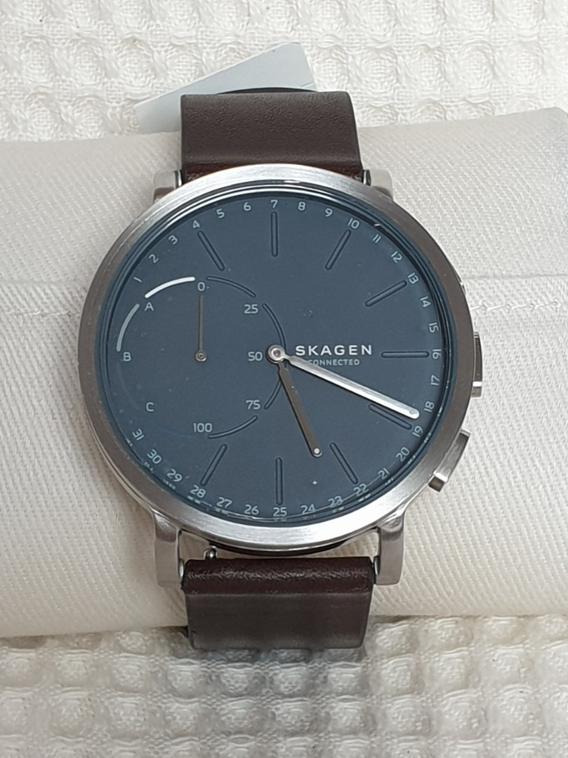 Genuine Skagen Hybrid Smartwatch Hagen Dark Brown Leather Luxury