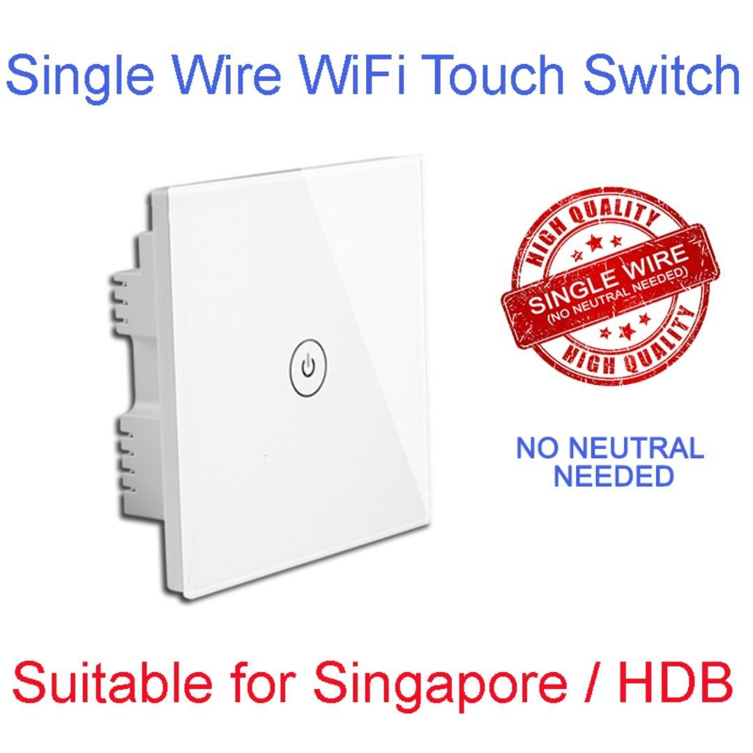 Smart Touch Switch with Single Wire Technology( No Neutral