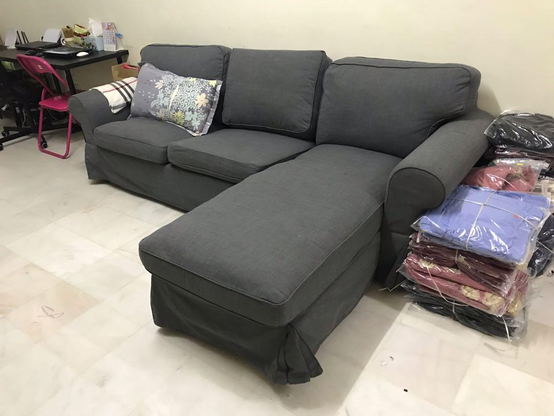 SOFA IKEA L-SHAPED RM550, Home & Furniture, Furniture on ...