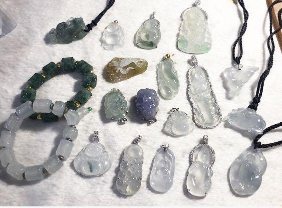 Top quality jadeite Jade. Pendant, ring, necklace etc