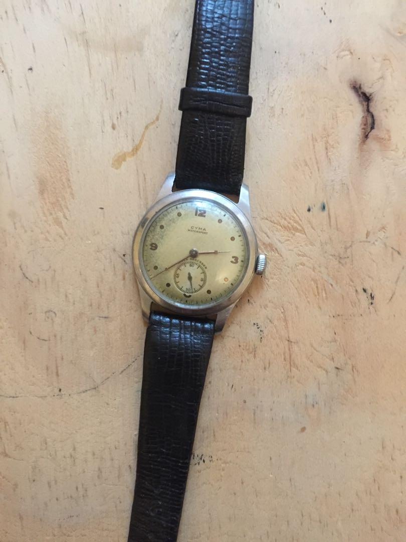 Vintage Cyma Automatic Watch approx 1950's