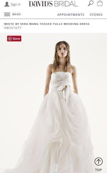 White by Vera Wang Tossed Tulle Wedding Dress VW351077