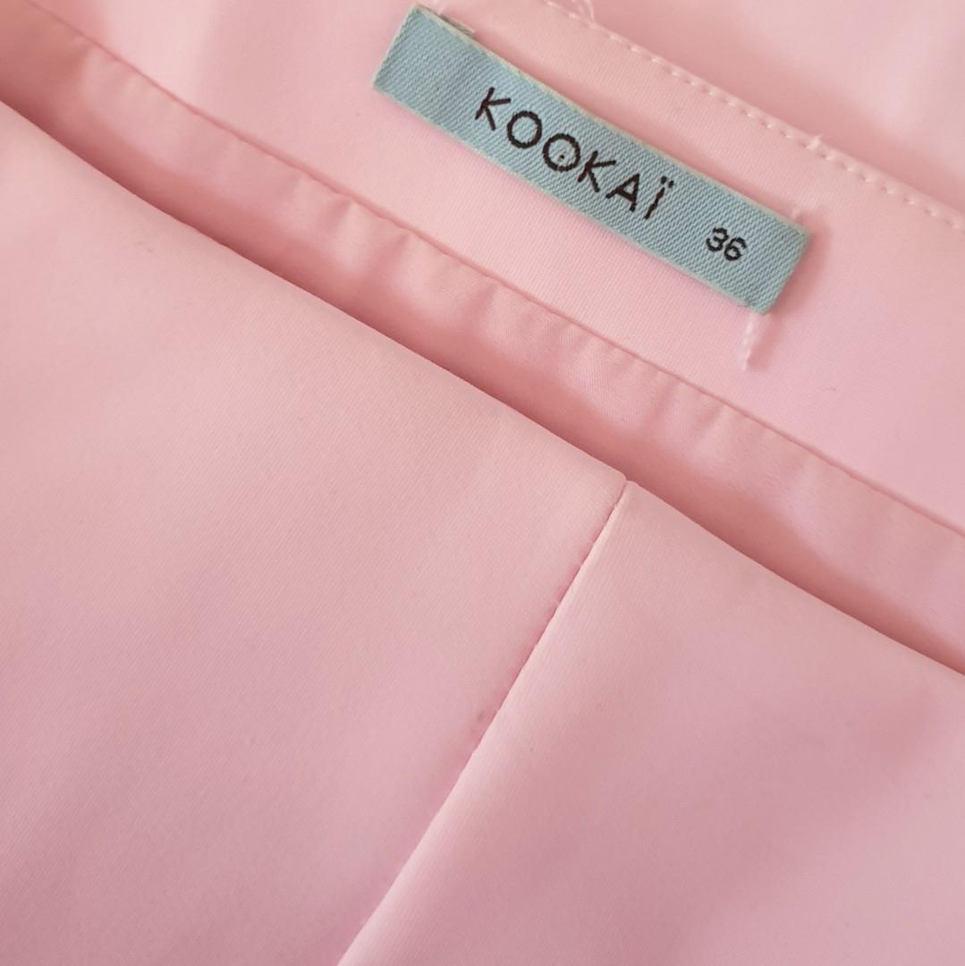 Women's size 36 = 8 'KOOKAÏ' Stunning soft pink scuba pencil midi skirt - AS NEW