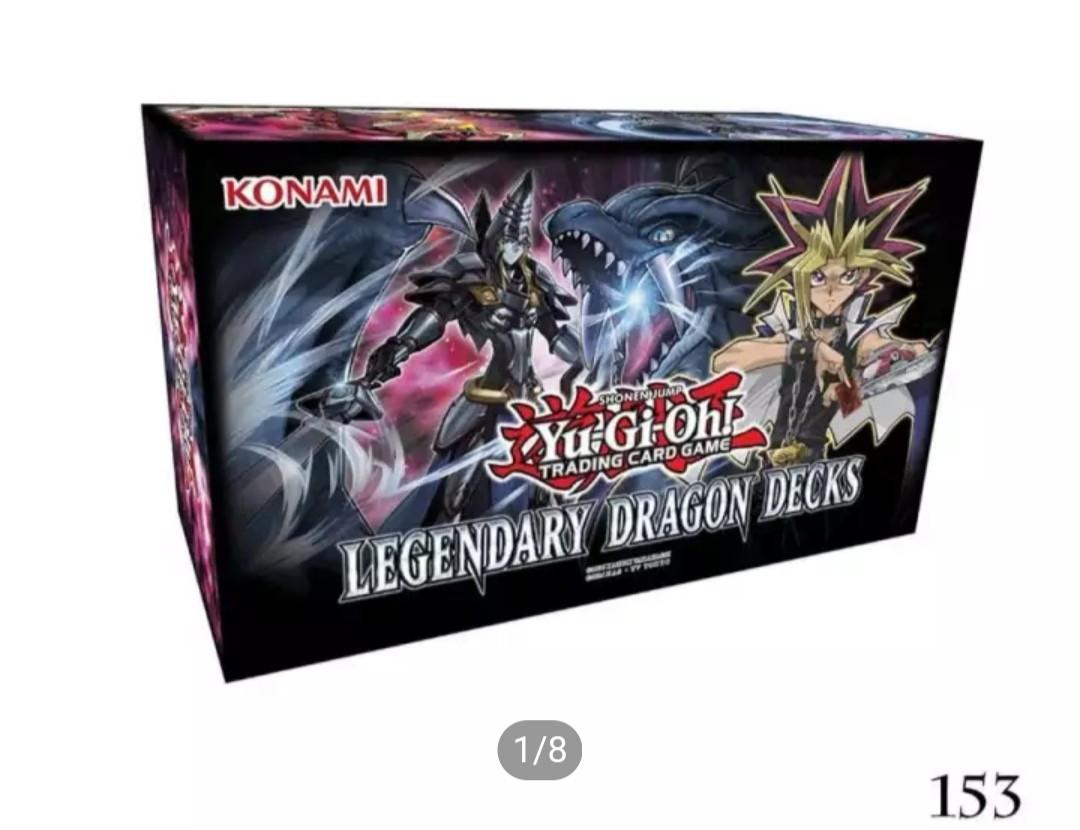 Wts yugioh tcg English legendary dragon decks dark magician and odd eyes and box