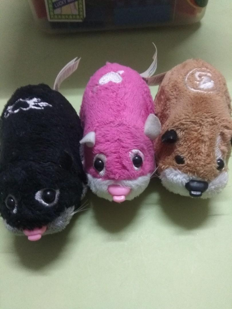 Zhu zhu pet, hamster set of 3 (sound, funny sound, moving)