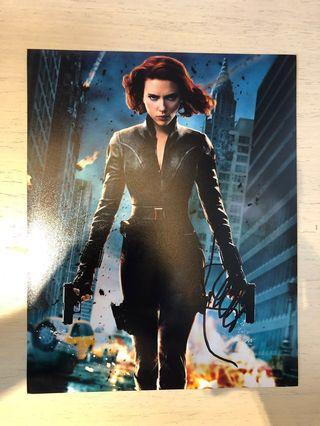 Avengers Endgame 親筆簽名 Black Widow 黑寡婦 Signed by Scarlett Johansson Hot Toys collector must have item 10 x 8 size