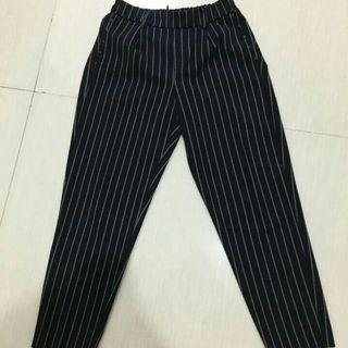 Bershka stripe Navy pants
