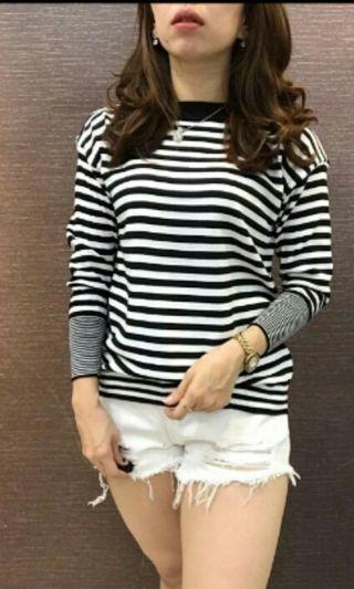 Atasan Sweater Stripes Bkk