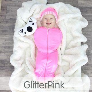 HOT PinkGlitter Zip Hybrid Swaddle