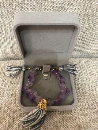 手作紫水晶手環