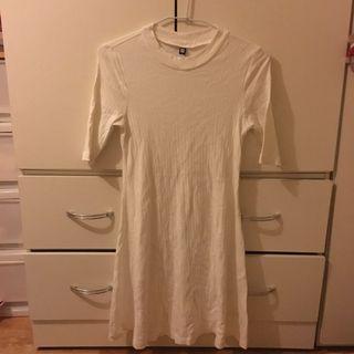 Genquo 白色針織洋裝 dress