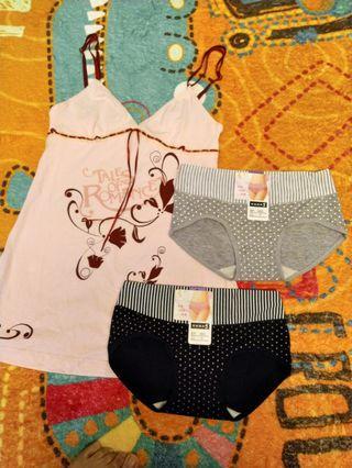 🚚 小褲x2+背心x1 (3件80)