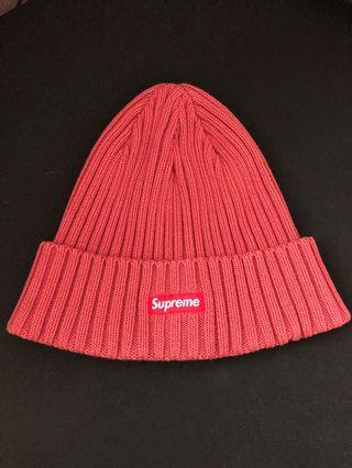 Authentic Supreme ribbed pink beanie