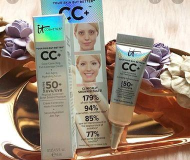 BNIB it cosmetics Your skin but better CC + Cream SPF 50+ 4ml Light