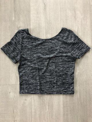 Wilfred Free DARK GREY Juliana T-shirt/crop top - Size M