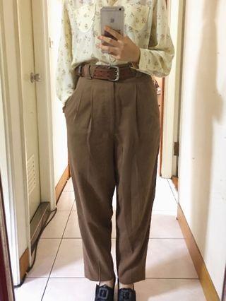 🚚 褲- 古著 復古 卡其 寬鬆 老爺褲 (有瑕疵)