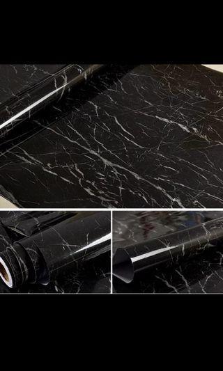 🚚 Marble Vinyl Film Self Adhesive for Bathroom Kitchen Cupboard Countertops