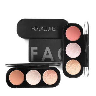 Focallure Trio Blush Highlight & Contour