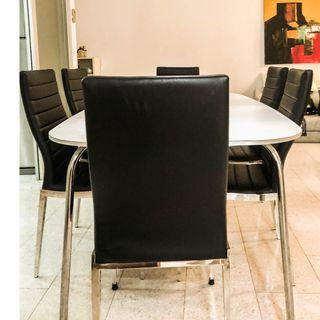 Dining Set (dining table + 6 leather chairs)