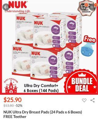 🚚 NUK Breast Pad with free teether