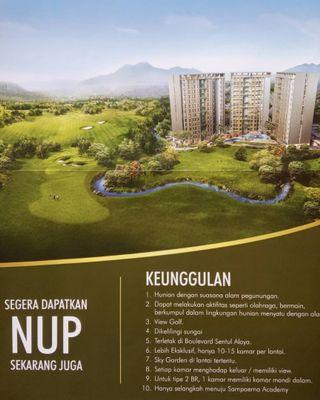 Apartmen 400 jutaan view gunung & lapangan golf
