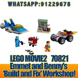 THE LEGO MOVIE 2: Emmet And Benny's 'Build And Fix' Worksh  70821  ღ E-holiday ღ