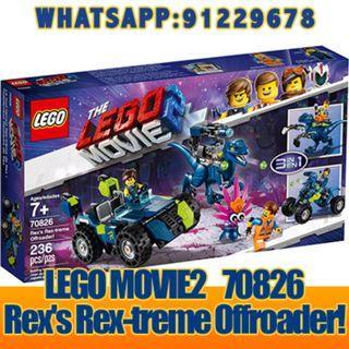 THE LEGO MOVIE 2: Rex's Rex-treme Offroader   70826  ღ E-holiday ღ