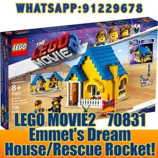 THE LEGO MOVIE 2: Emmet's Dream House/Rescue Rocket   70831   ღ E-holiday ღ