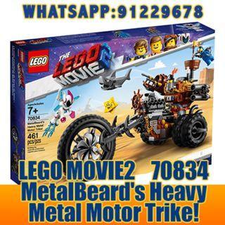 THE LEGO MOVIE 2: MetalBeard's Heavy Metal Motor Trike   70834  ღ E-holiday ღ