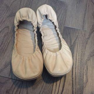 Womens Ballet Flats Beige