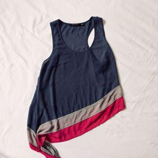 Cute sleeveless top with side tie
