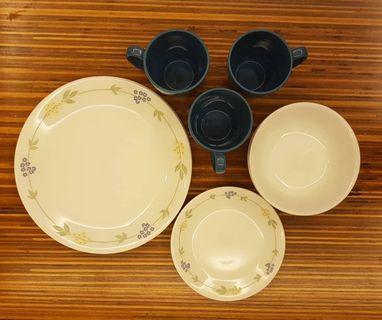 Corelle Vitrelle Livingware Secret Garden 15 pcs Dinner Set