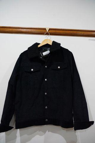 BRAND NEW black corduroy button up jacket
