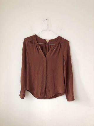 Aritzia t babaton silk blouse