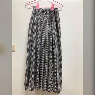 🚚 黑白格紋長裙#格子裙