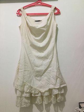 White dress / dress putih branded