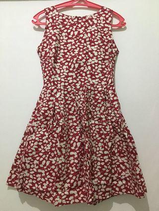Flower Dress / red dress / dress merah