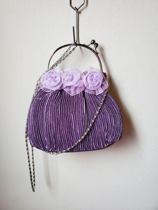 Ring Handle Lavender Bag