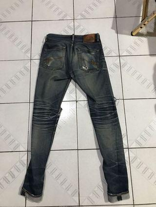 Mischief Denim Jeans size 28. Sudah fadding mantap