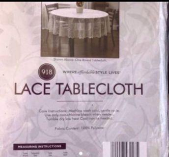 Lace tablecloth- 100% polyester