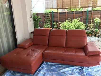 Redwood Leather 3-seater Sofa