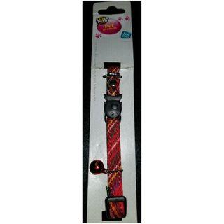 Pet collar with artifical leather. Fit neck (20-26cm).