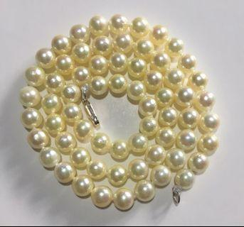 Akoya champagne gold sea pearl necklace