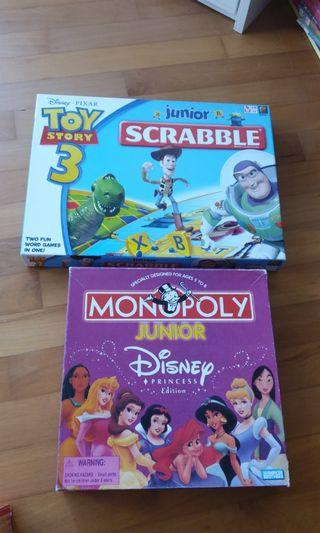 Junior Scrabble & Junior Monopoly Selling CHEAP