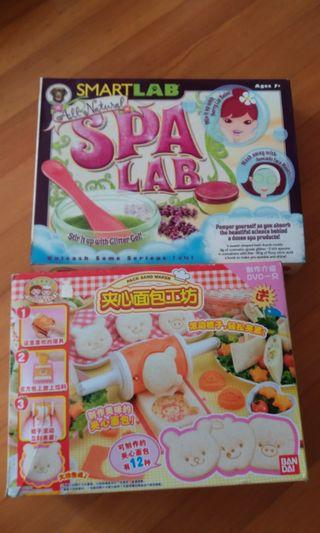 Activity Pack Spa Lab and Sandwich Maker to clear cheap!