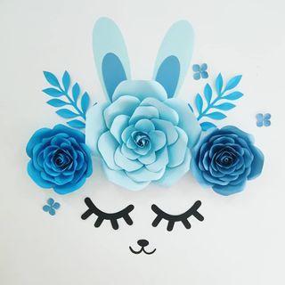 Bunny Paper Flowers Decoration
