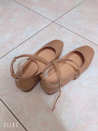瑪莉珍鞋-棕色