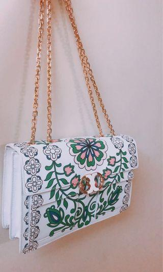 NEW 氣質 純白波希米亞斜肩袋 elegant white pattern bag #MTRkt